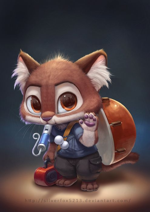 Fan art of that cute actuary kitty at the beginning of Zootopia.