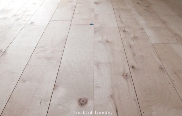 "Plywood Floors -- 1/4"" Maple Plywood"