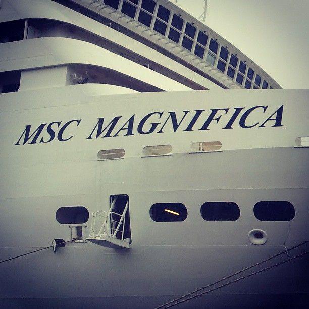 MSC Magnifica docked in Hamburg, Germany. #cruise #travel #MSCCruises