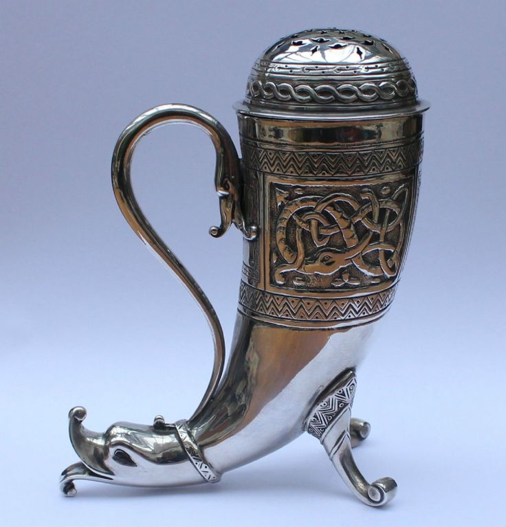 ANTIQUE NOVELTY SOLID SILVER ANGLO INDIAN STYLE SUGAR SIFTER