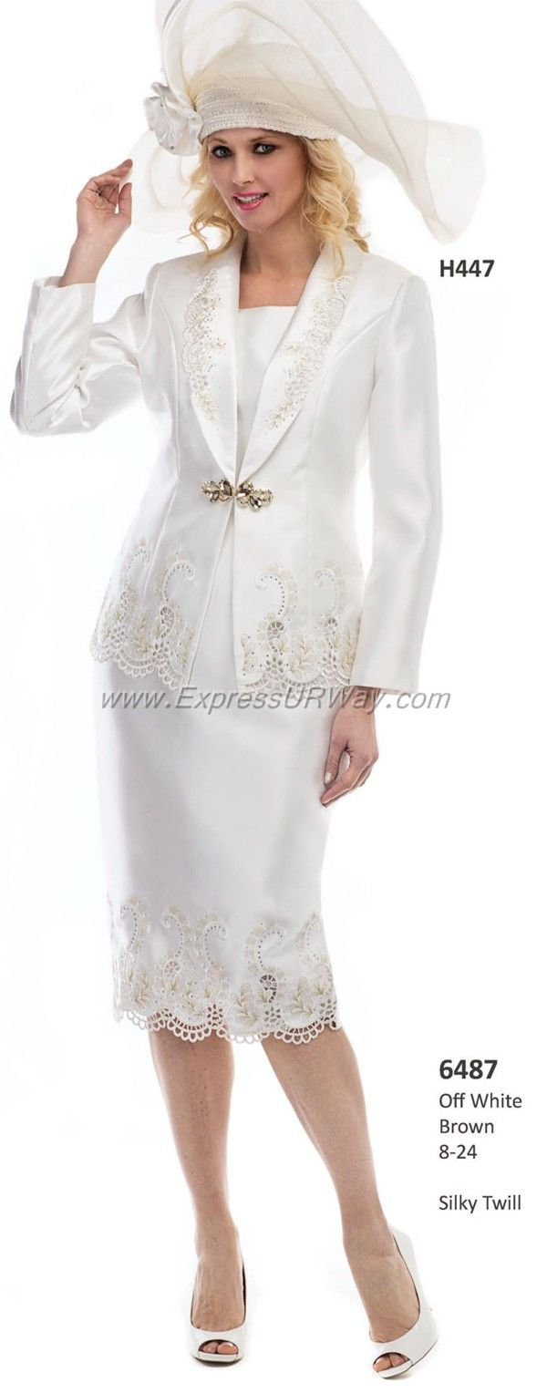White dress for church - Fall 2014off White Brown Sizes 8 24