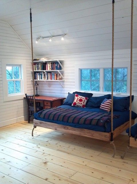 Hemp is eight times stronger than cotton, which is why it was often used to weave sails and rope for the British and American navy. This project used hemp rope to hang an adorable daybed from the ceiling.