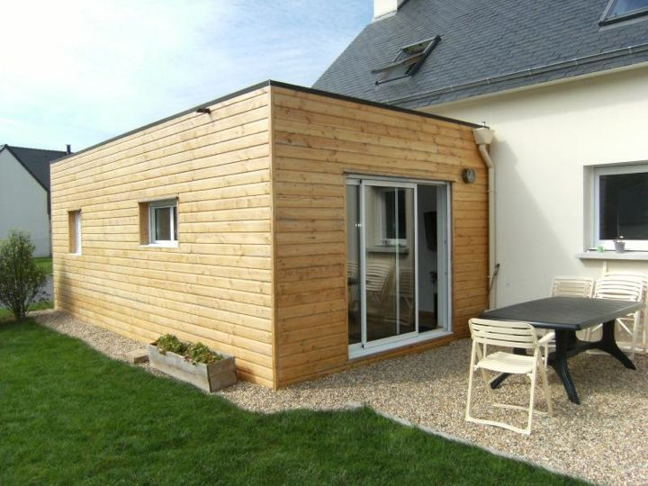 extension en ossature bois avec baie coulissante aluminium With beautiful maison toit plat bois 0 extension maison agrandissement ossature bois