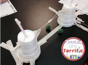 A STEM Quick Challenge! Need something for a reward or a sub day? Maybe an after school club or enrichment? This Quick Challenge will work great! Kids create a pom-pom blaster using a supply box and criteria card. Total engagement and fun! #STEM #Engineering #teacherspayteachers