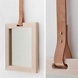 pinned by barefootstyling.com Annick L Petersen's mirror with leather strap
