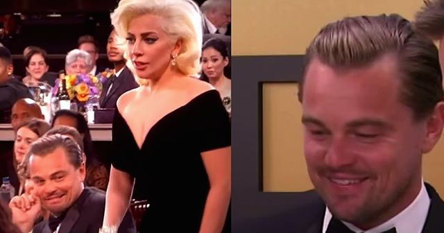 Leo Reacting To His Own Viral Video Of Lady Gaga Bumping Him Is All Sorts Of Amazingness
