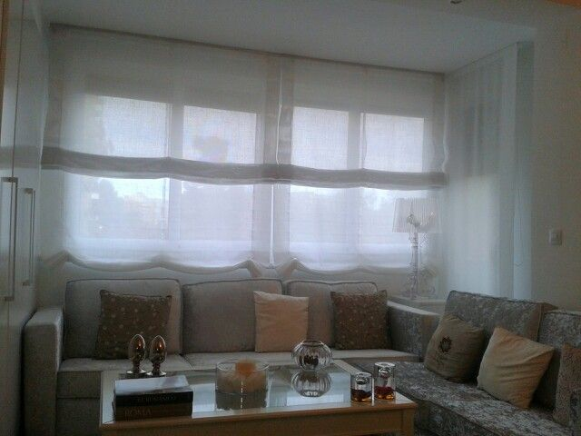 Las 25 mejores ideas sobre varillas de cortinas dobles en for Cortinas estores salon