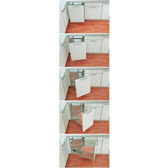 Diy blind corner cabinet organizer google search for Blind corner kitchen cabinets