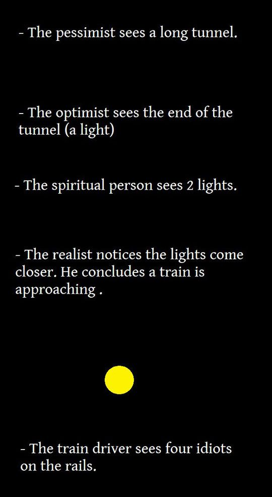 There are 5 types of people in the world. And apparently they are all in the tunnel. Love it!
