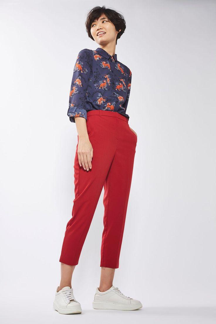 PETITE High Waist Cigarette Trousers - Trousers & Leggings - Clothing - Topshop Europe