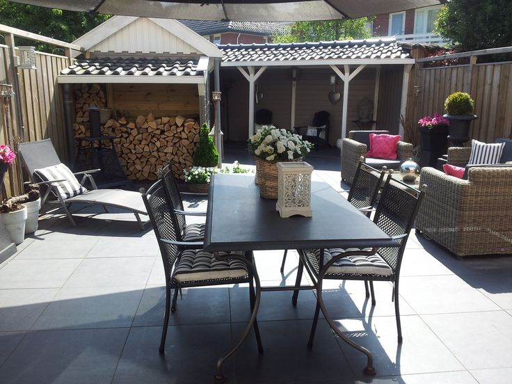 Achtertuin Tuin Veranda Hollandse Nederlandse Nederland Garden Porch