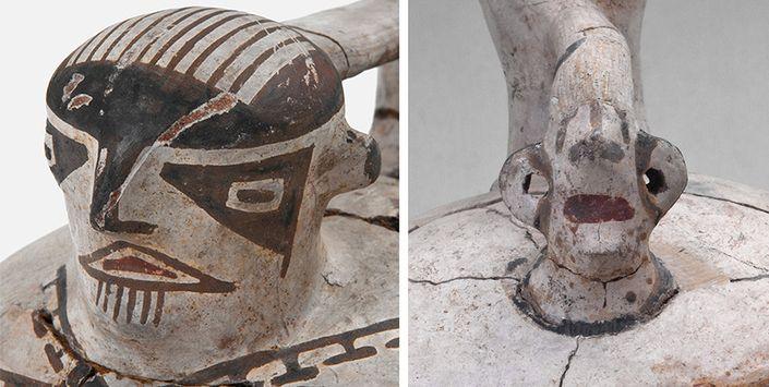 Lienzo jarros pato, cerámica Período tardío, Estadio Fiscal de Ovalle