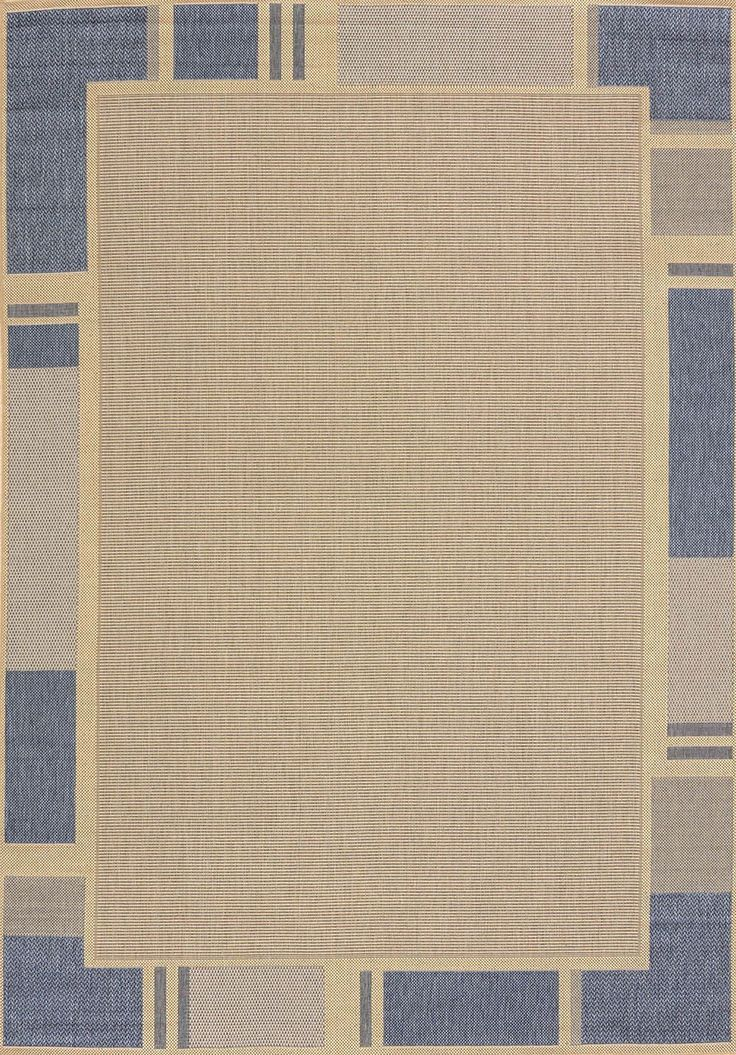 Solarium blue terrace indoor outdoor area rug rugs terrace and blue