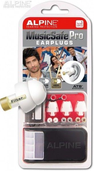 Alpine MusicSafe Pro White - špunty do uší pro muzikanty, DJe a zpěváky
