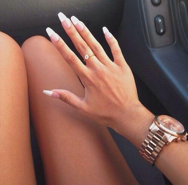 I love long nails! Diamonds are a girls best friend!!