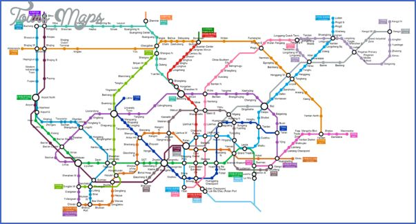 cool SHENZHEN METRO RAIL MAP
