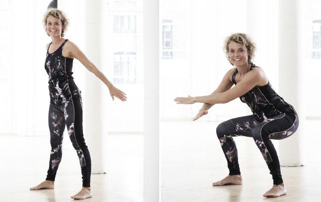 Få en stærk krop med 6 øvelser på 6 minutter - fit living