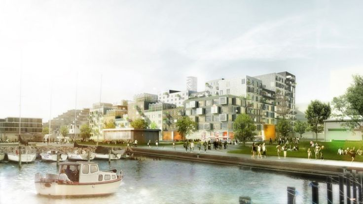 'Canal Houses': Aarhus Harbour Housing Project Winning Proposal / ADEPT + Luplau Poulsen