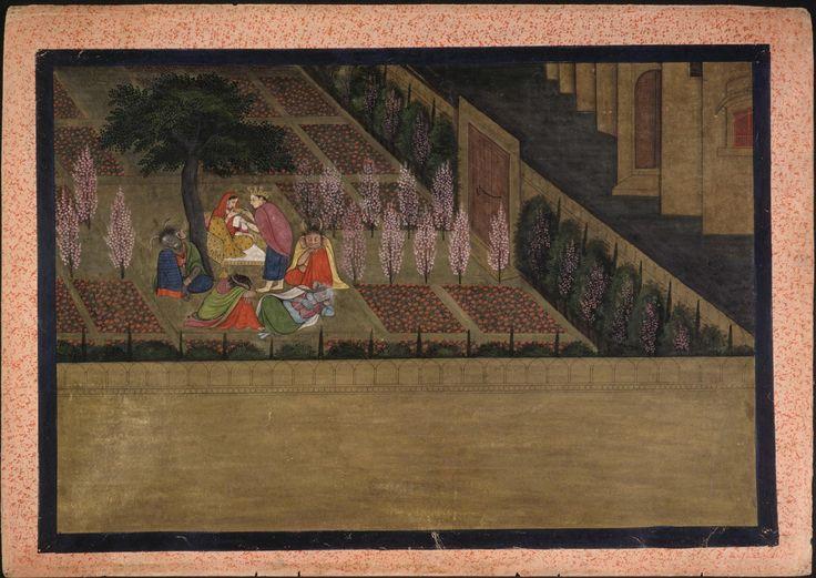 Philadelphia Museum of Art - Collections Object : Indra Visits Sita in Ravana's Garden, Guler/Kangra, Himachal Pradesh, 1775-1780