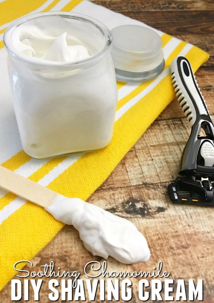 Are you looking for a DIY shaving cream recipe that really works? Then you're going to love our Soothing Chamomile DIY Shaving Cream recipe!
