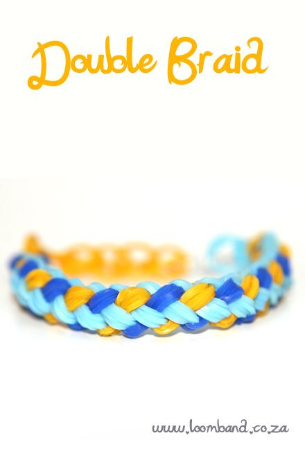 How to make a Double Braid Rainbow Loom band bracelet