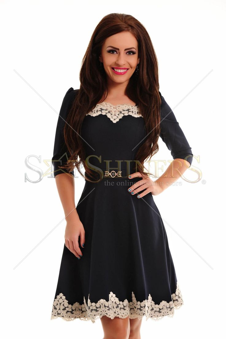 LaDonna Lovely Embroidery DarkBlue Dress