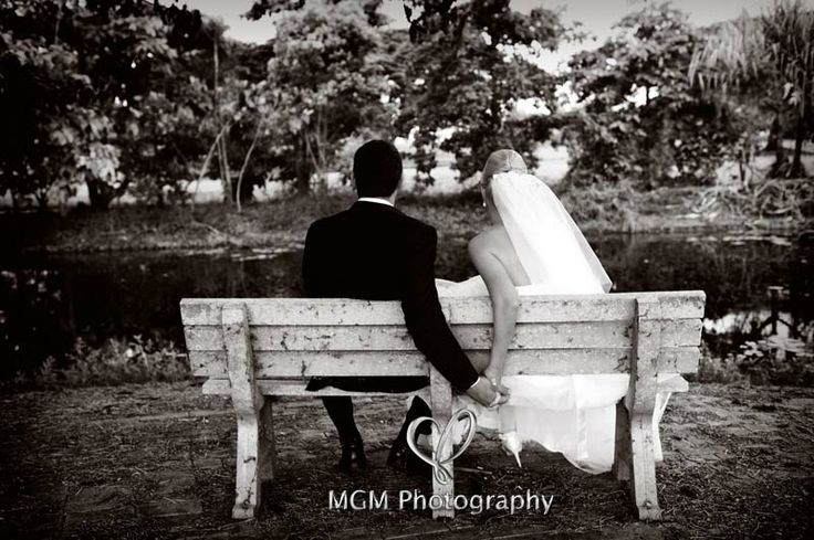 This timeless image was taken in Ingham Nth Qld. Wouldn't it be fun to for Lauren and Steven to go back to this same bench on their anniversary every year and take the same shot. How romantic in 50 year to look back over time   Photo Allanna Allen