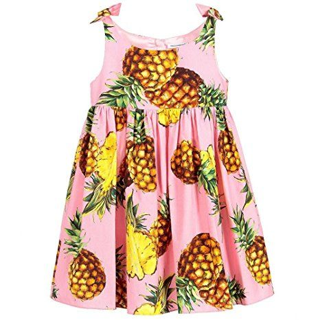 Kimocat Baby Girls Fruit Printed Sleeveless Dress Party Pageant dress for 2-8 Toddler (100)