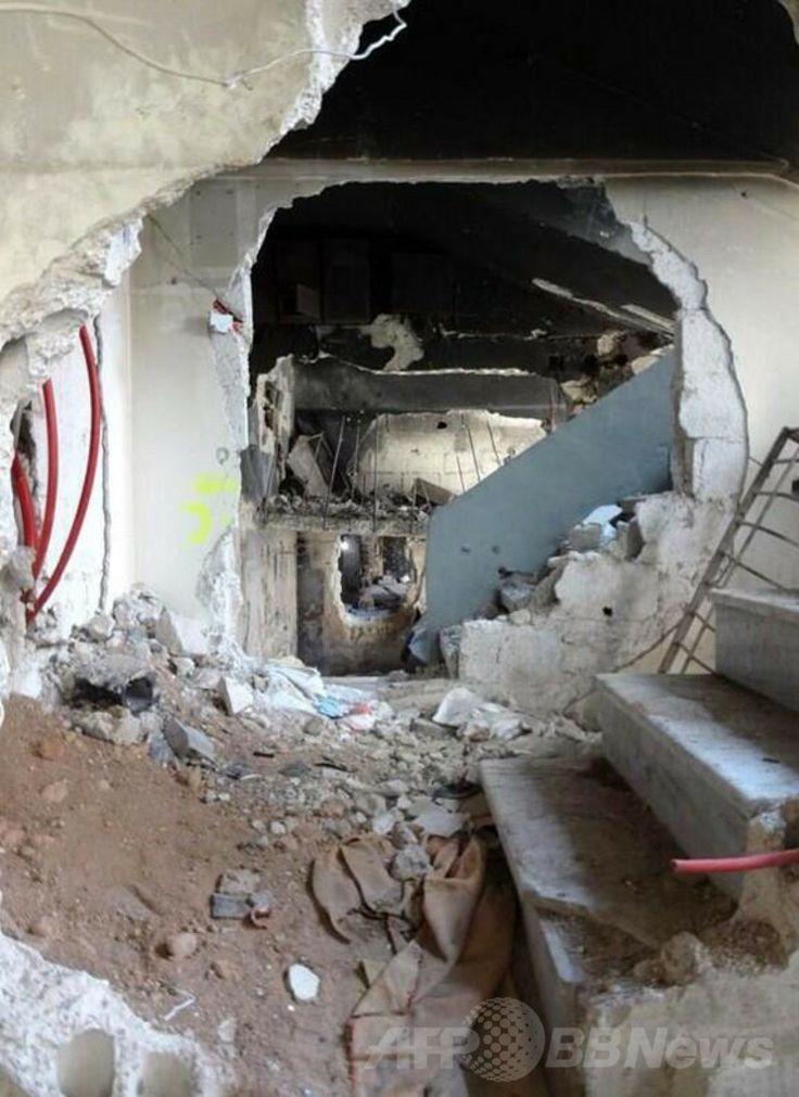 シリア首都ダマスカス(Damascus)のヤルムーク(Yarmuk)・パレスチナ人難民キャンプの破壊された街並み(2014年1月21日提供)。(c)AFP/UNRWA ▼4Feb2014AFP シリア首都の難民キャンプ、封鎖7か月で2万人が飢え http://www.afpbb.com/articles/-/3007525 #Syria #Siria #Syrie #Syrien #Yarmuk