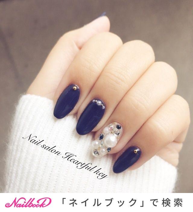 冬/クリスマス/デート/ハンド/ロング , Nail salon Heartful key