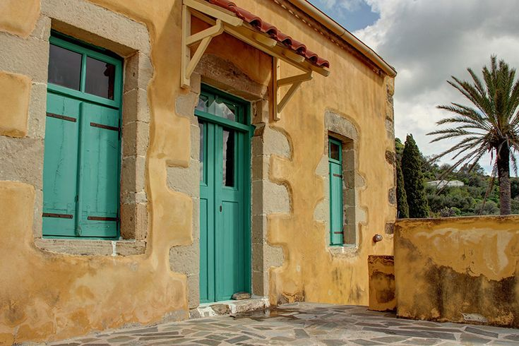Polyrrinia, West Crete. Greece. Lovingly restored stone house in the village.