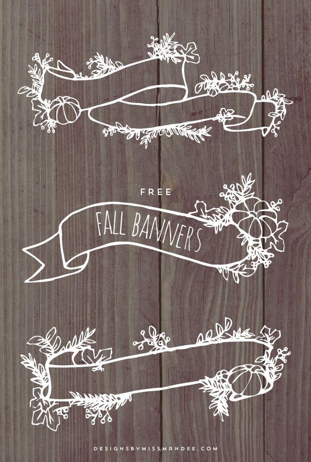 Fall Banner Graphics 127 best chalk it