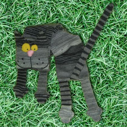 Scarf Stripped Cat. Шарф Кот в полоску