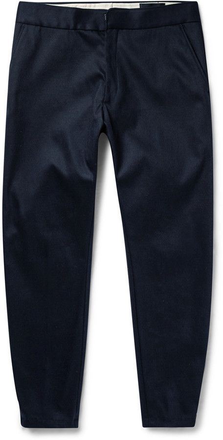 Alexander McQueen Tapered Zipped-Cuff Tech-Drill Trousers