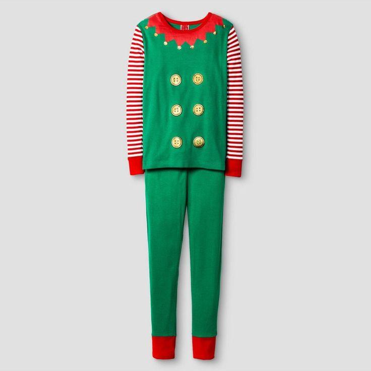 Kid's Elf Pajamas Green 5