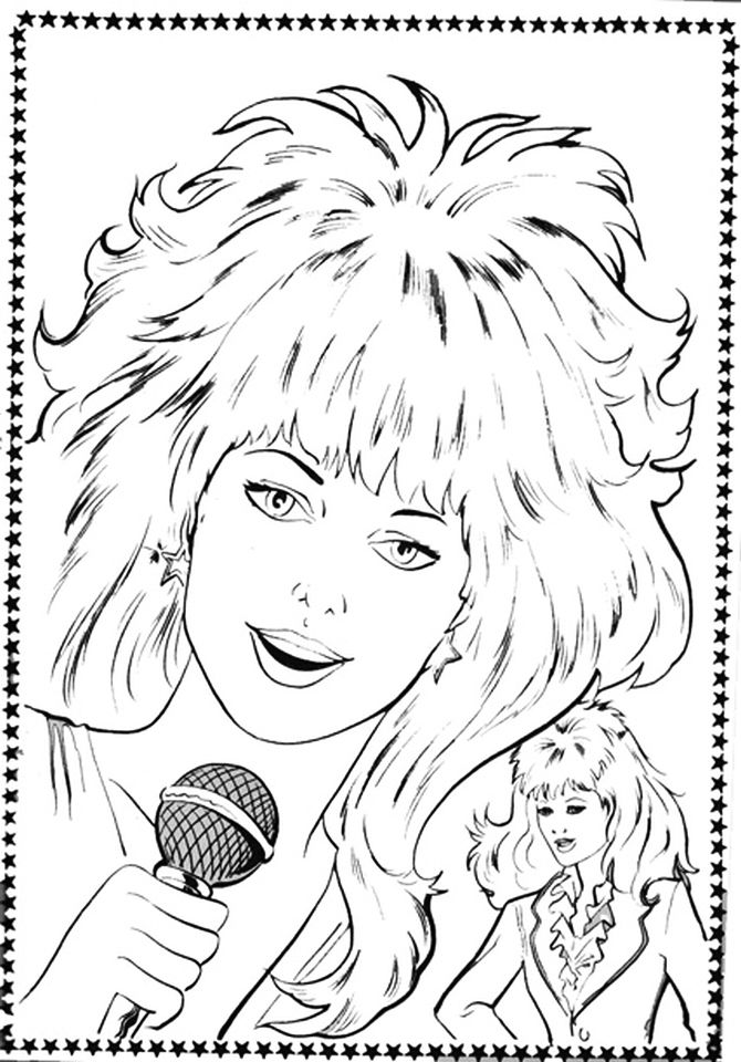 free 80s coloring pages | 17 Best images about Crafty (80's Jem) Coloring on ...