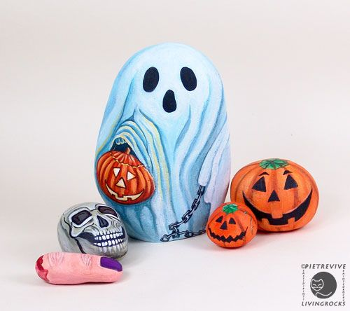 galets pour halloween