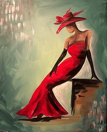 images of women in red and white dresses paintings of