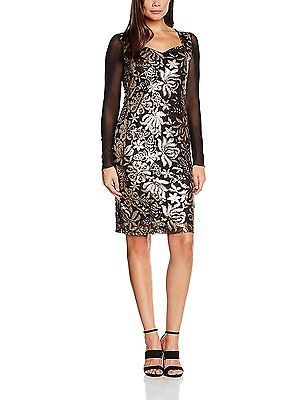 16, Brown (Bronze), Joe Browns Women's Sophisticated Sequin Dress NEW