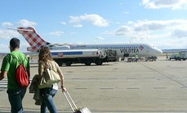 Este domingo se inician los vuelos a Ibiza y Málaga desde el Aeropuerto de Zaragoza con la compañía de bajo coste Volotea