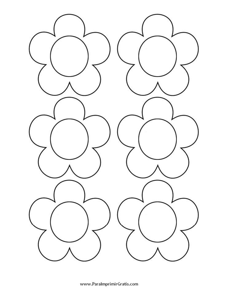 flores para colorear y recortar