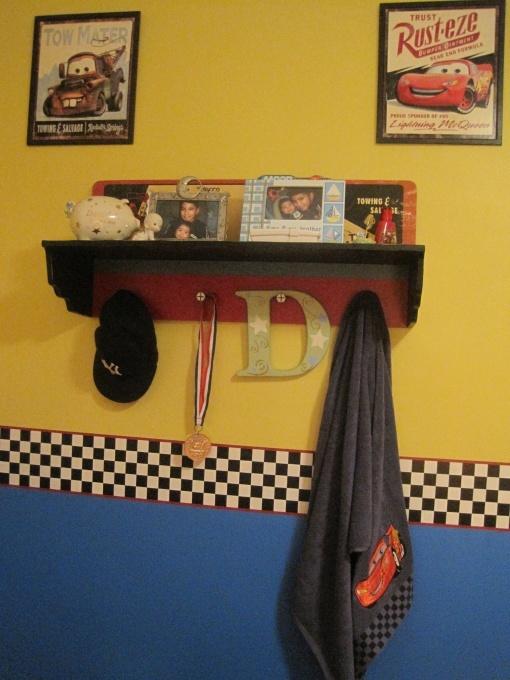 Disney Cars Lightning Mcqueen Mater Room shelf decorating