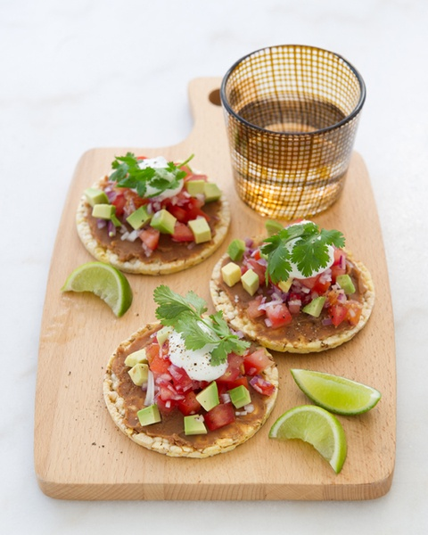 michelle bridges vegetarian taco thins - my fav lunch