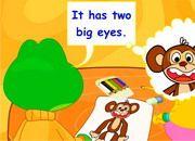It has two big eyes.