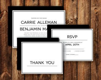 NORTHWEST DESIGN CO. | WEDDING INVITATION RSVP/REPLY CARD {black and white} (Card Size: 5.5x4.25)  /////////////////////////////////////////////////////////////////&#x...