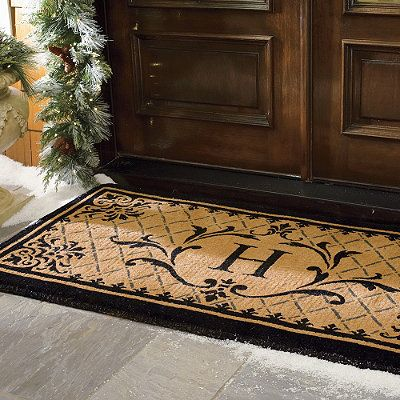 Monogrammed Floor Mats >> Monaco Monogrammed Coco Door Mat | Monaco, Doors and Door mats