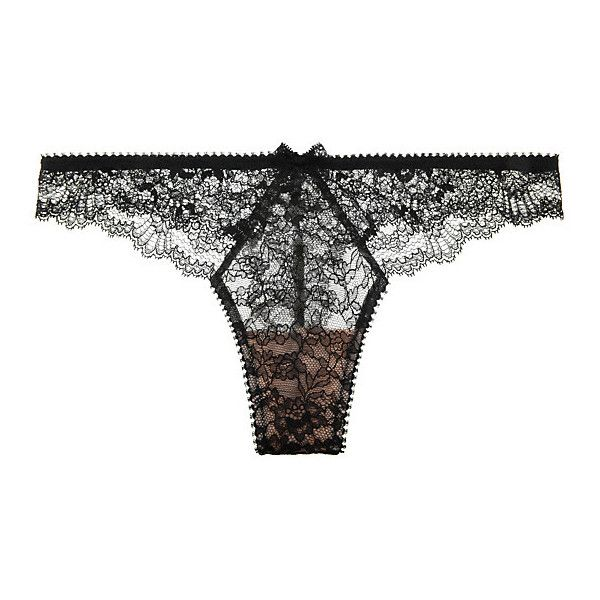 Myla Heritage Lace Thong ($85) ❤ liked on Polyvore featuring intimates, panties, brazilian bikini, orange lace thong, lace thong, tanga thong and lacy thong