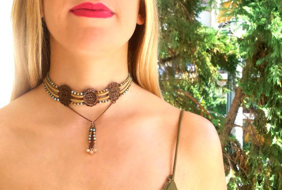 Our victorian choker !! So unique and handamade as always !!