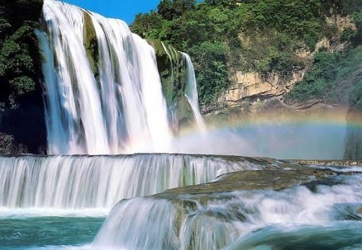 waterfalls: Natural Wonder,  Dyke,  Dike, Beautiful Waterfalls, Trees Waterf, Dam, Beautiful Places, Huangguoshu Waterfalls, Fruit Trees