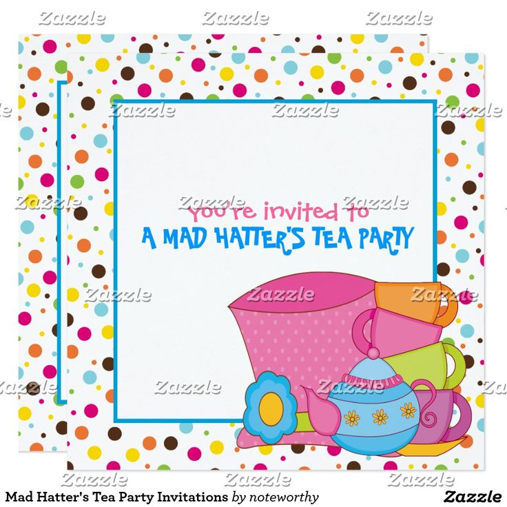880 best Tea Party Invitiation images on Pinterest | Shops, Tea ...